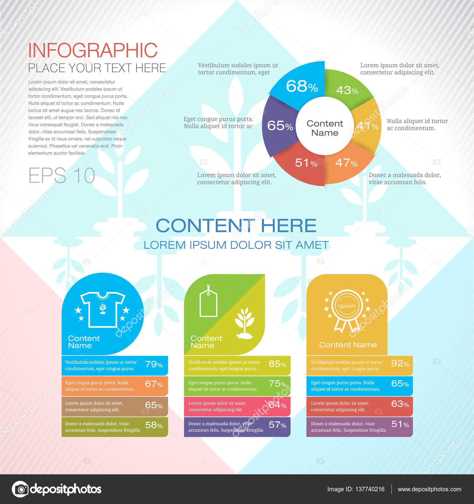 Plantilla de diseño gráfico moderno diseño o infografía para ...