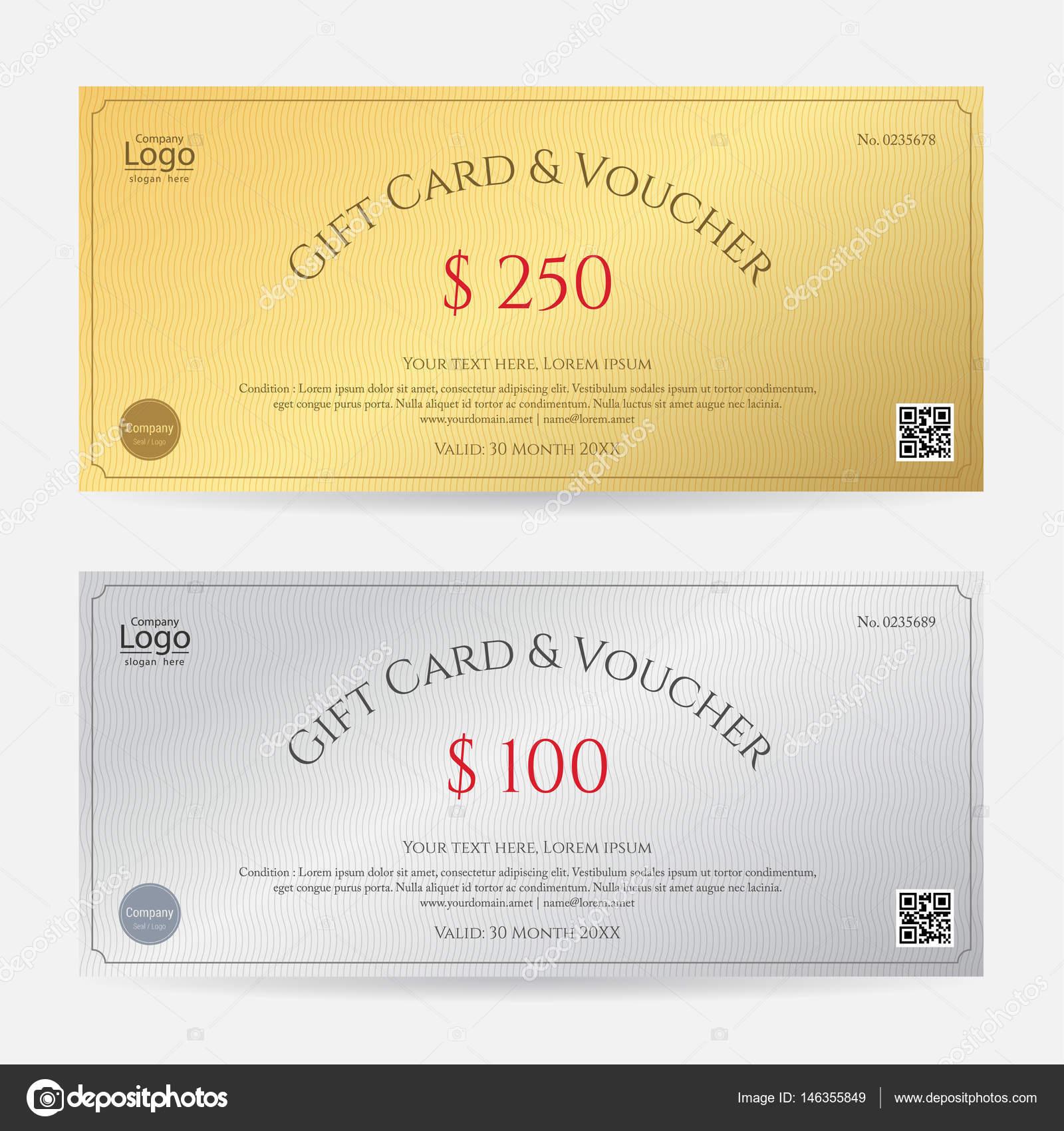 Elegante Geschenk-Gutschein oder Geschenk-Karte oder Gutschein ...