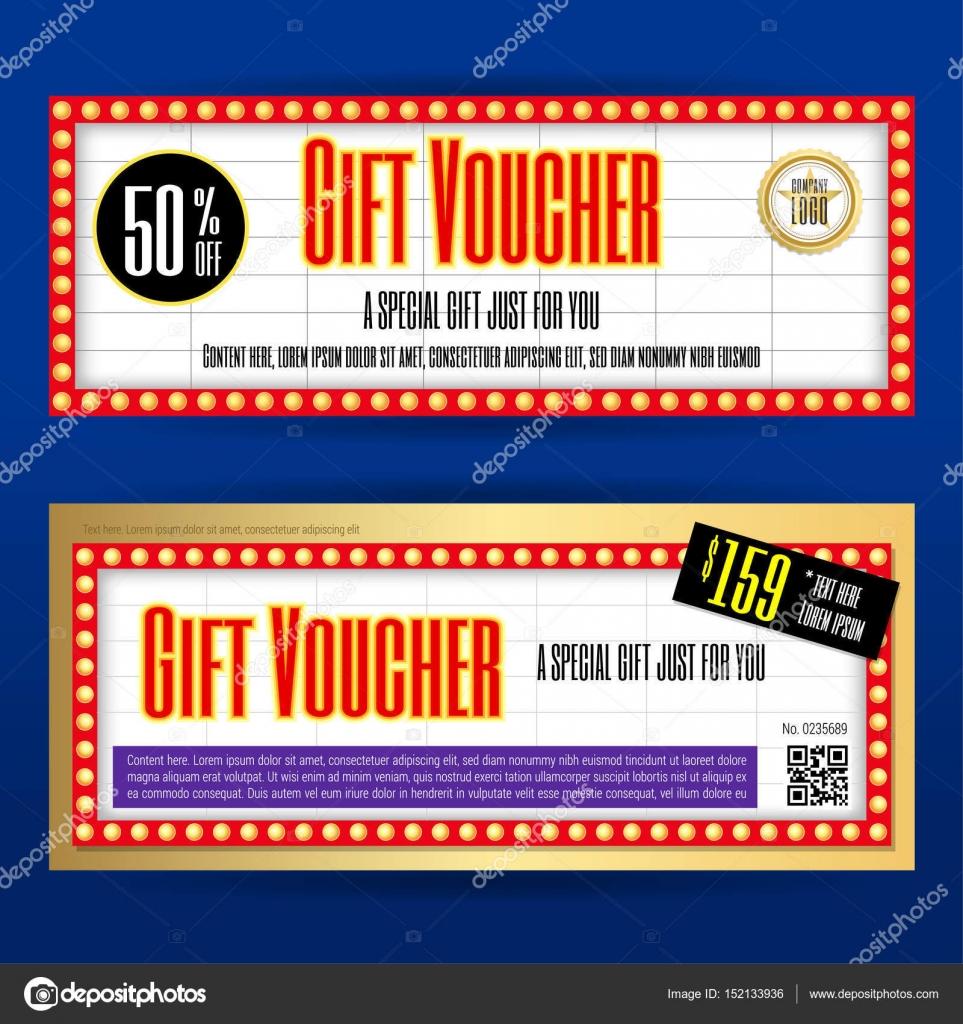 Film-Ticket Zeichen Geschenk Gutschein oder Geschenk Gutschein ...
