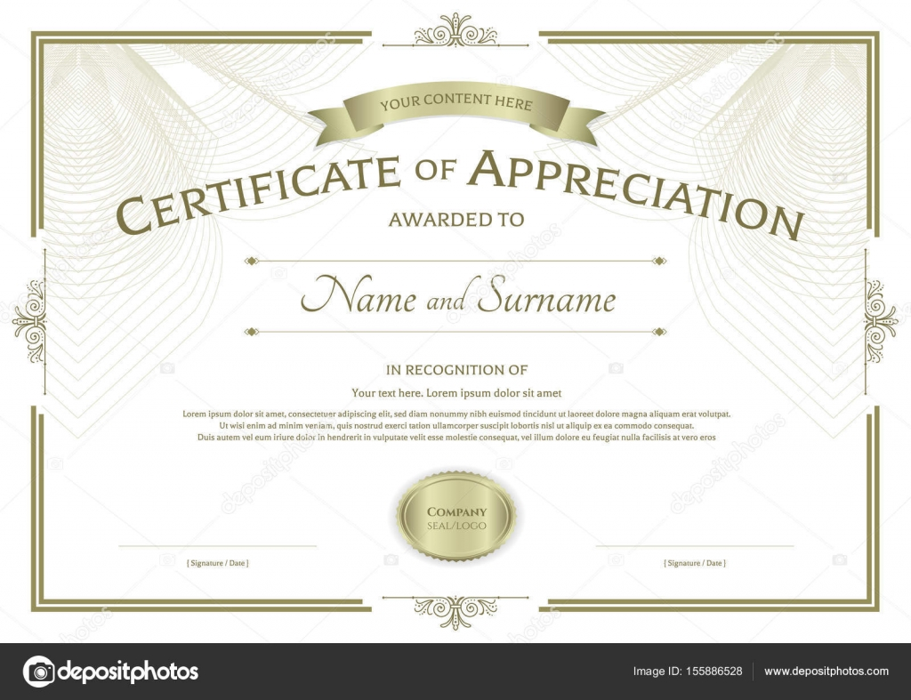 certificate of appreciation ribbon choice image