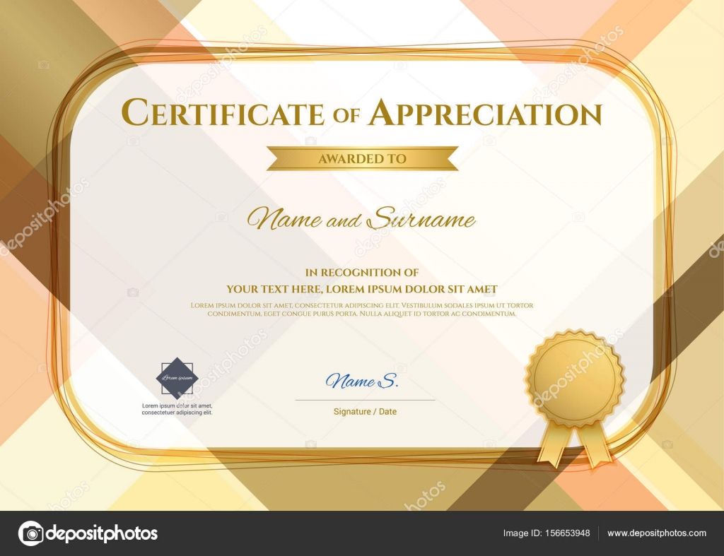 Modern Certificate Of Appreciation Template With Modern Colorful