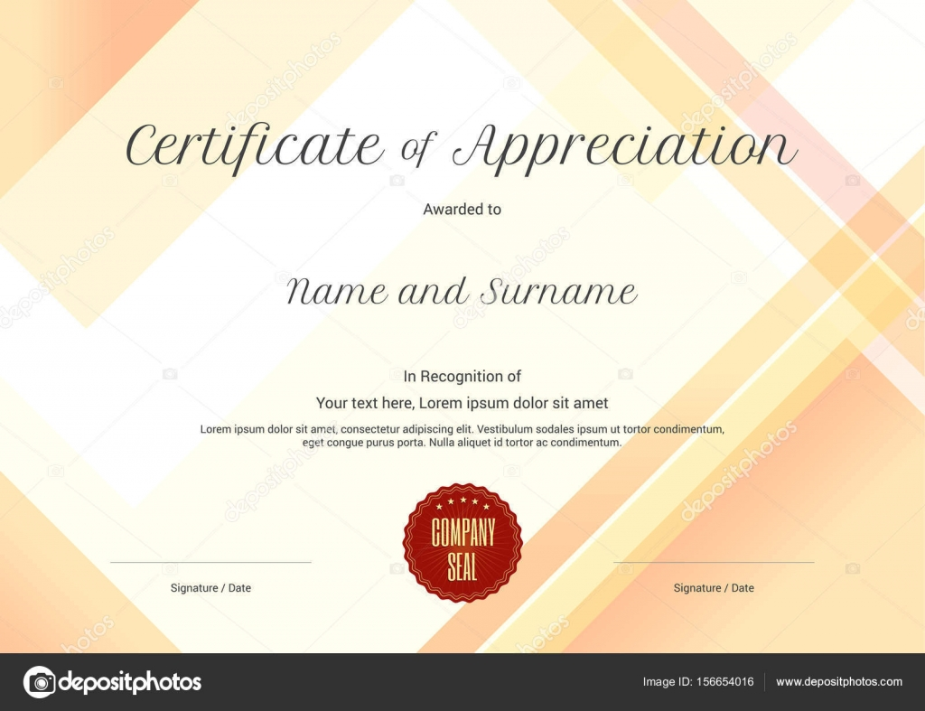 Modern certificate of appreciation template with modern colorful modern certificate of appreciation template with modern colorful pattern in vector illustration stock vector yadclub Images