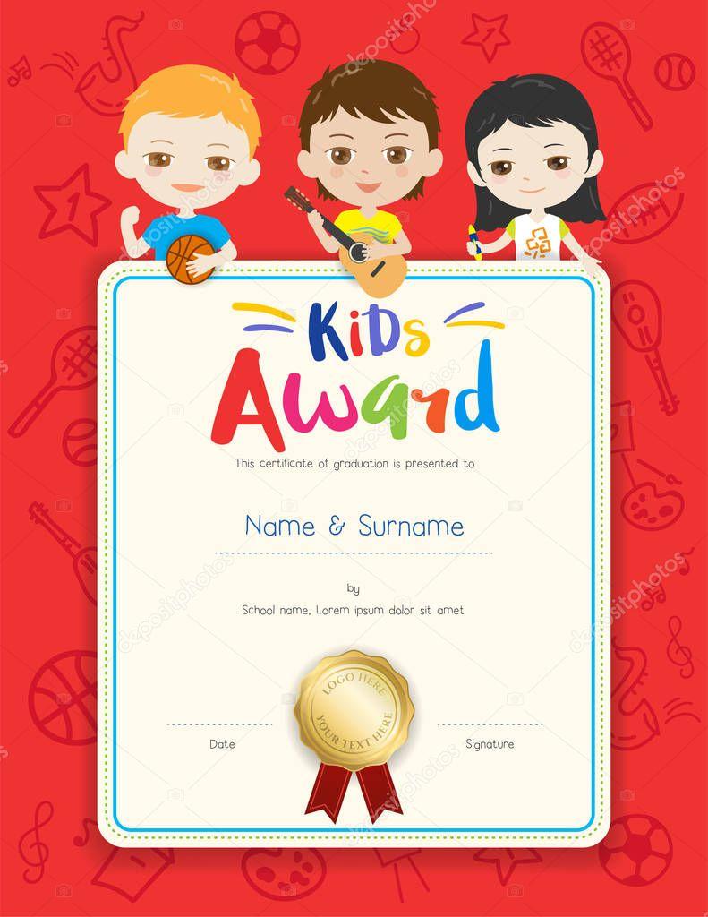 Fantastisch Zertifikatvorlage Für Kinder Zeitgenössisch - Beispiel ...