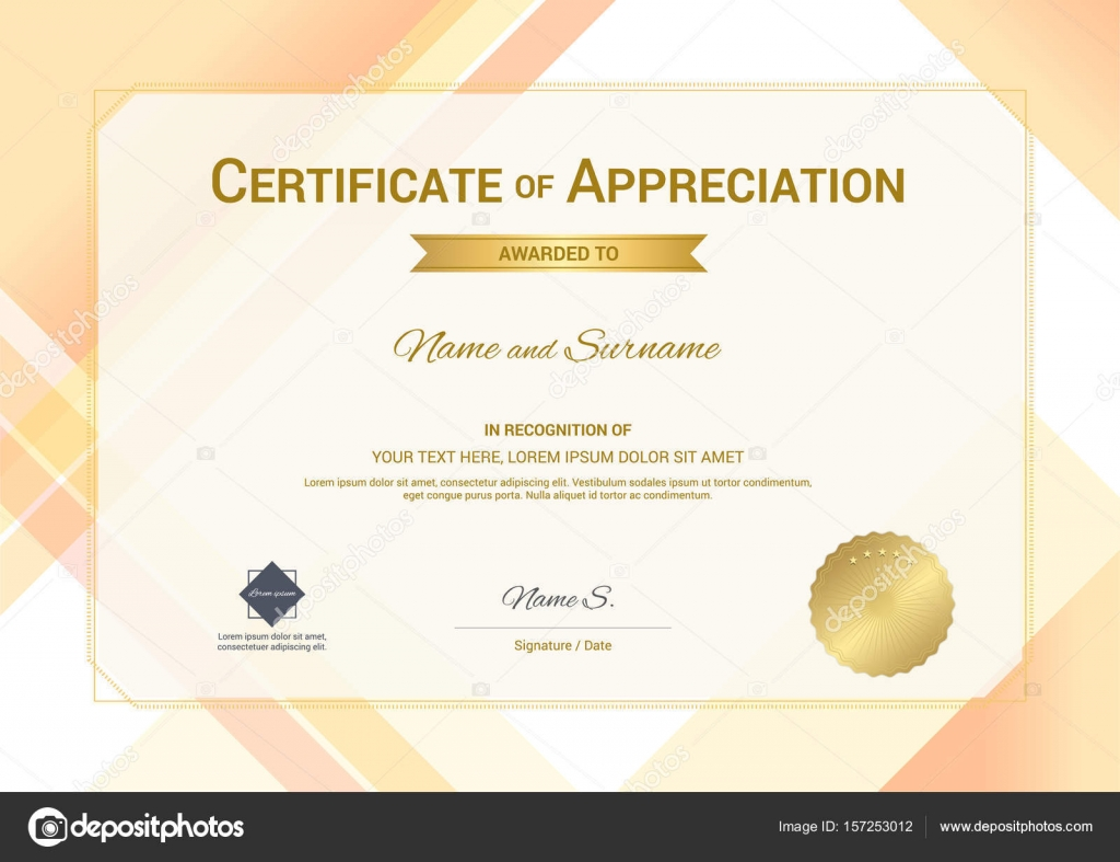 Moderne Zertifikat Wertschätzung Templates mit modernen bunten ...