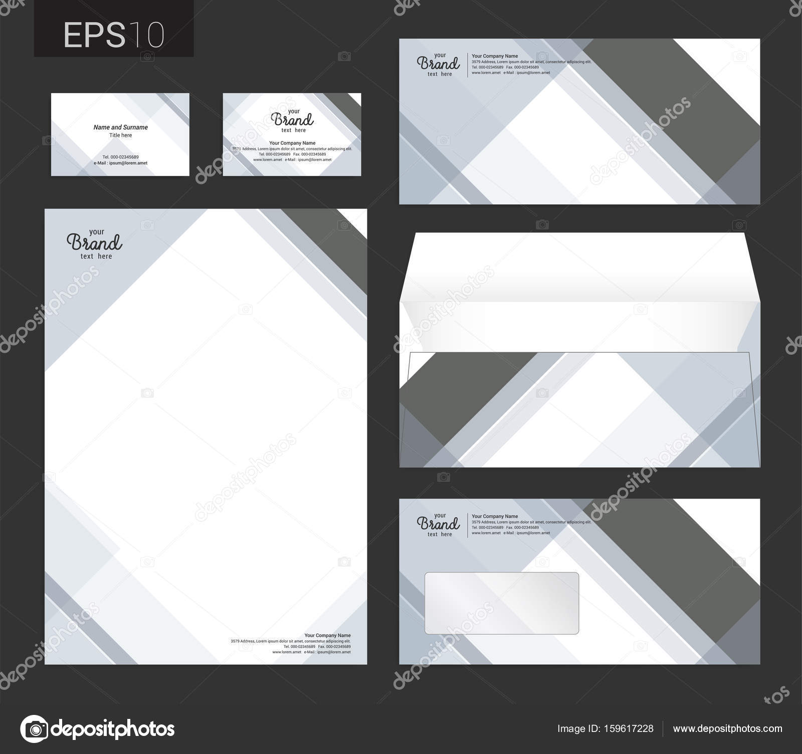 Modern stationery set in vector format letterhead business card modern stationery set in vector format letterhead business card envelope stock vector reheart Choice Image