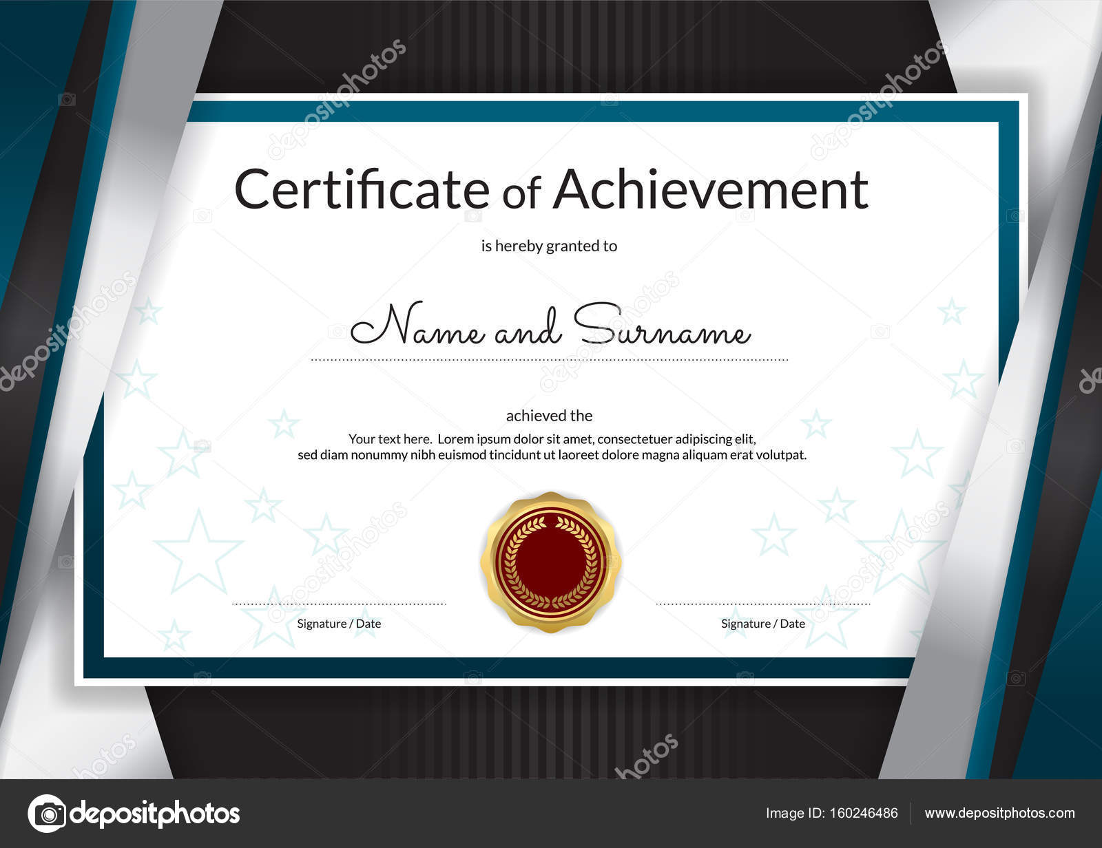Luxury certificate template with elegant silver blue border fram luxury certificate template with elegant silver blue border fram stock vector 160246486 xflitez Images