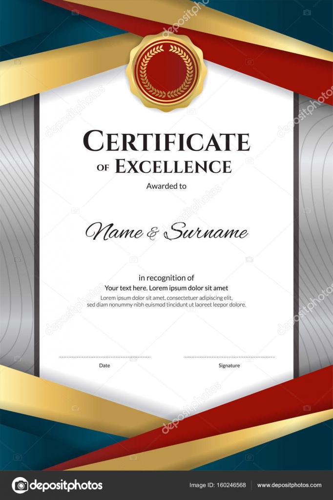 Portrait luxury certificate template with elegant border frame portrait luxury certificate template with elegant border frame diploma design for graduation or completion vector by beinluck yelopaper Image collections