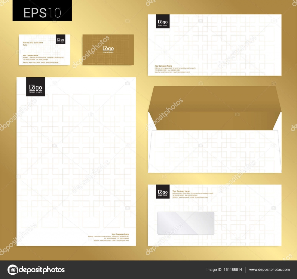Modern stationery set in vector format letterhead business car modern stationery set in vector format letterhead business card envelope vector by beinluck reheart Choice Image