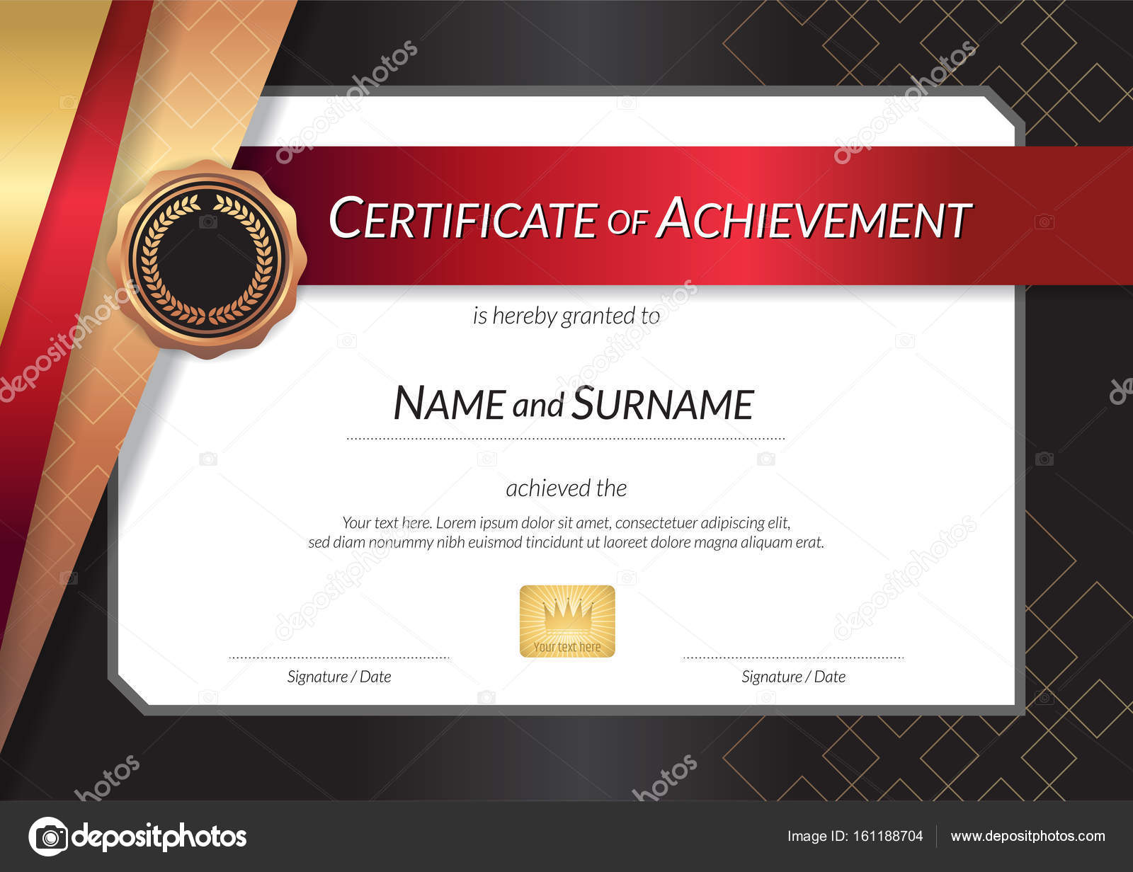 Luxury certificate template with elegant border frame diploma d luxury certificate template with elegant border frame diploma d stock vector yelopaper Image collections