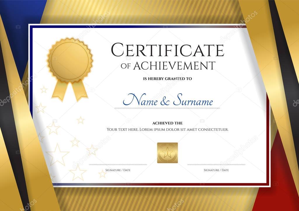 Elegant Marriage Certificate Template Golden Edition: Modelo De Certificado De Luxo Com Armação De Borda Dourada