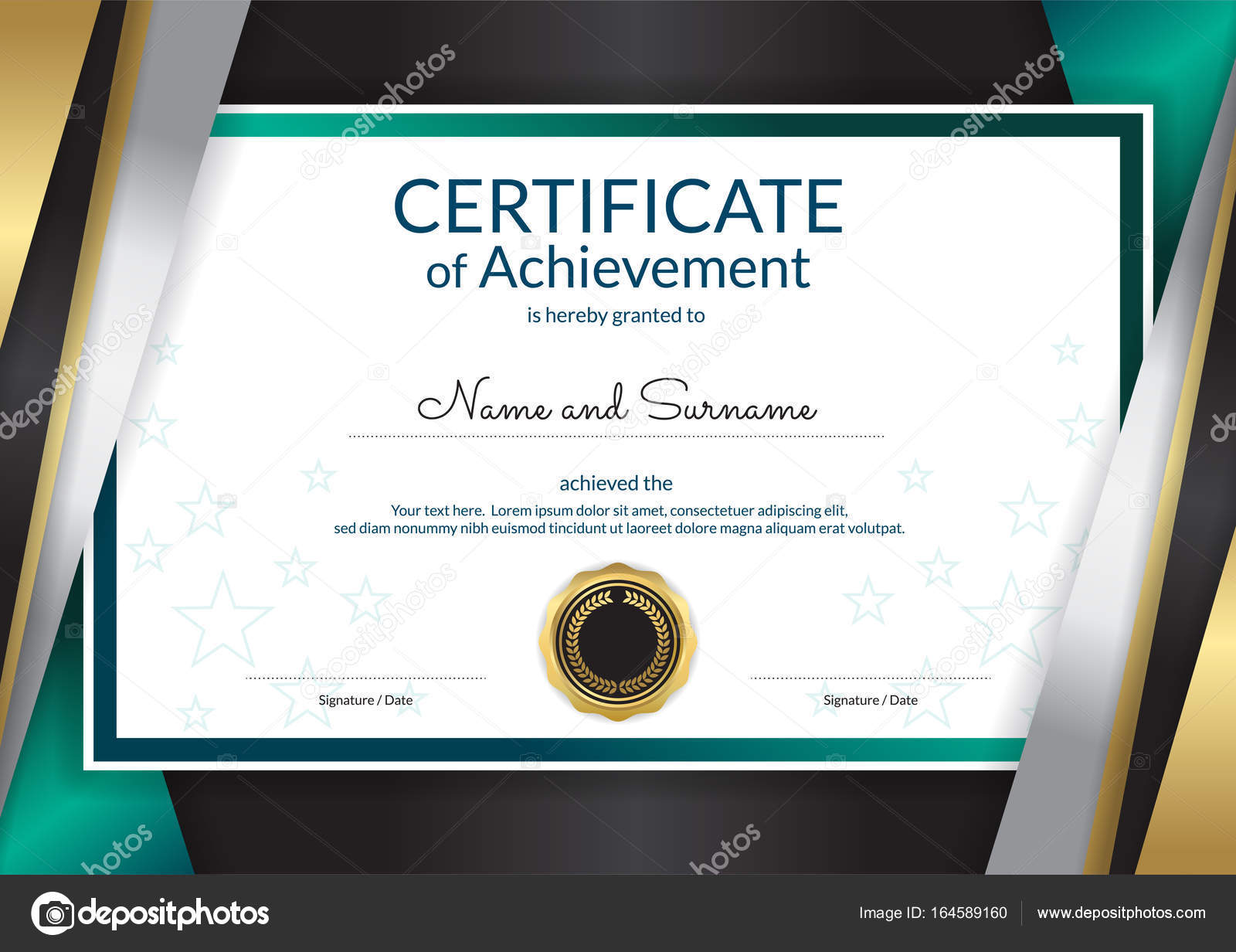 Luxury certificate template with elegant border frame diploma d luxury certificate template with elegant border frame diploma d stock vector 164589160 yelopaper Choice Image