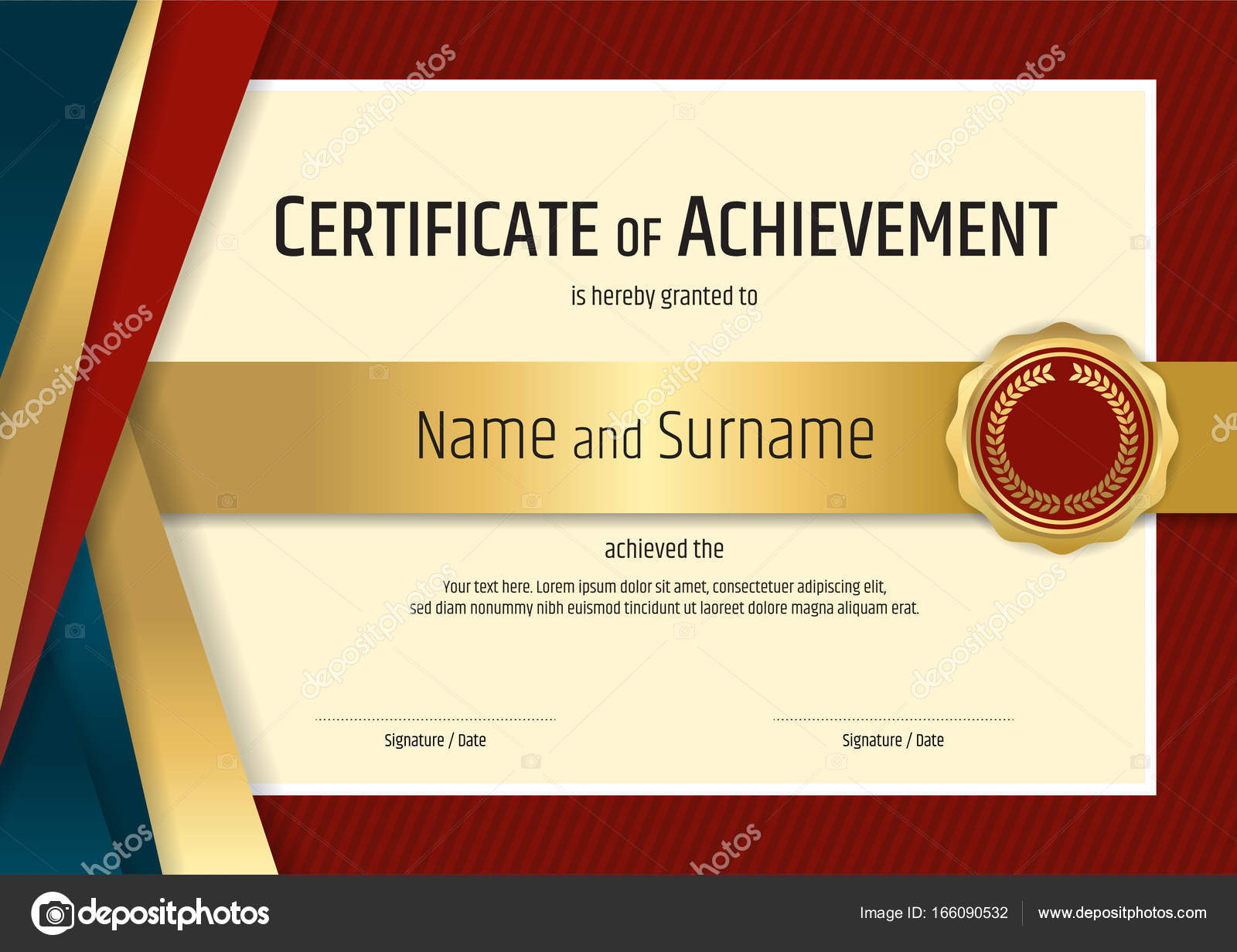 Luxury certificate template with elegant border frame diploma d luxury certificate template with elegant border frame diploma d stock vector 166090532 yelopaper Choice Image