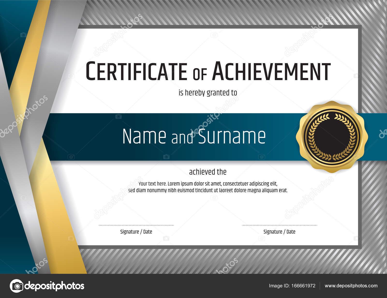 Plantilla de certificado de lujo con el marco de la frontera de ...