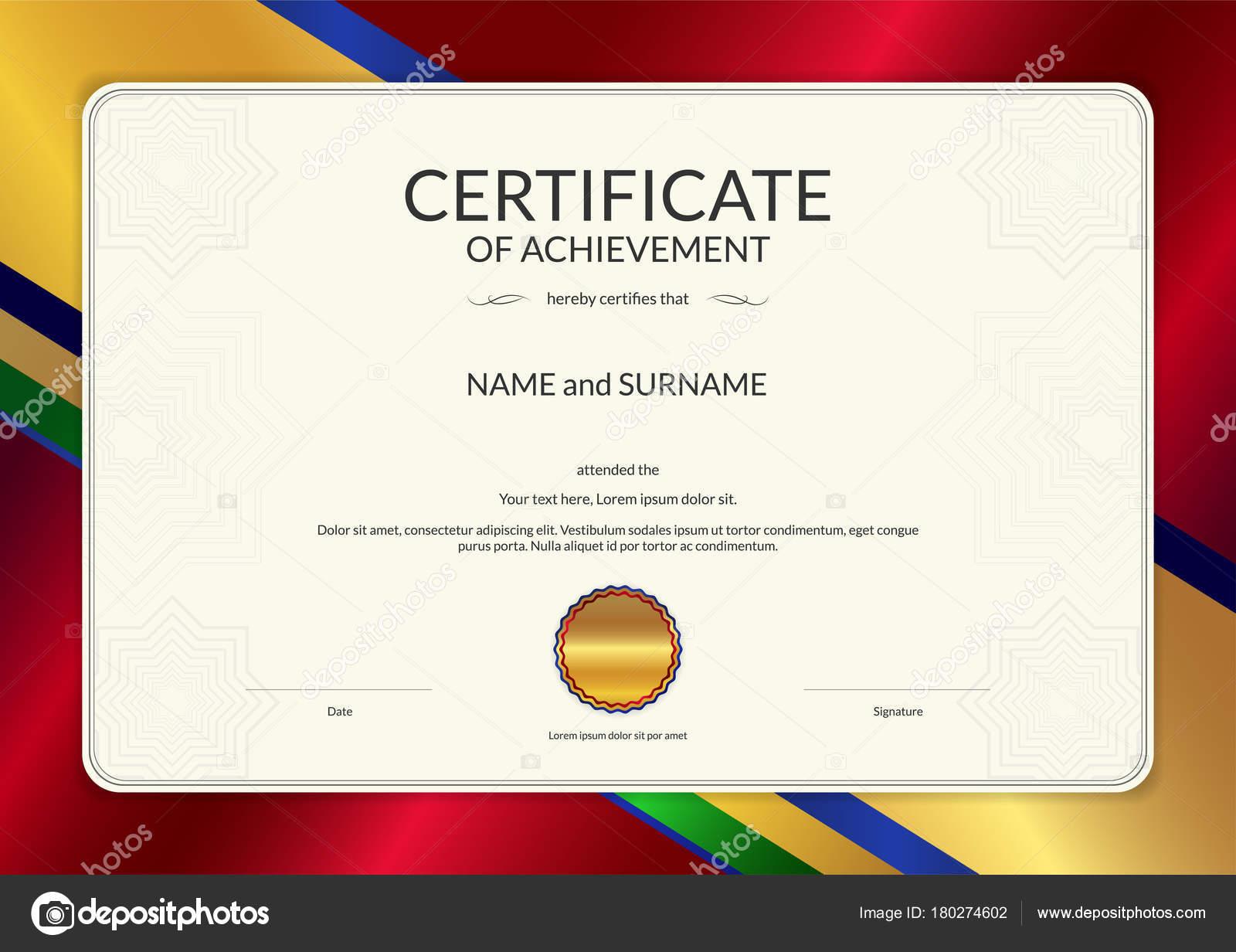Luxus-Zertifikat-Vorlage mit eleganten Rahmen, Diplom Design ...