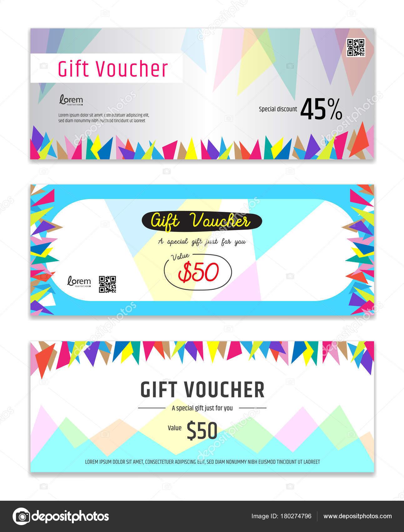 Bunte Geschenkgutschein, Gutschein, Geschenk-Karte oder Bargeld ...
