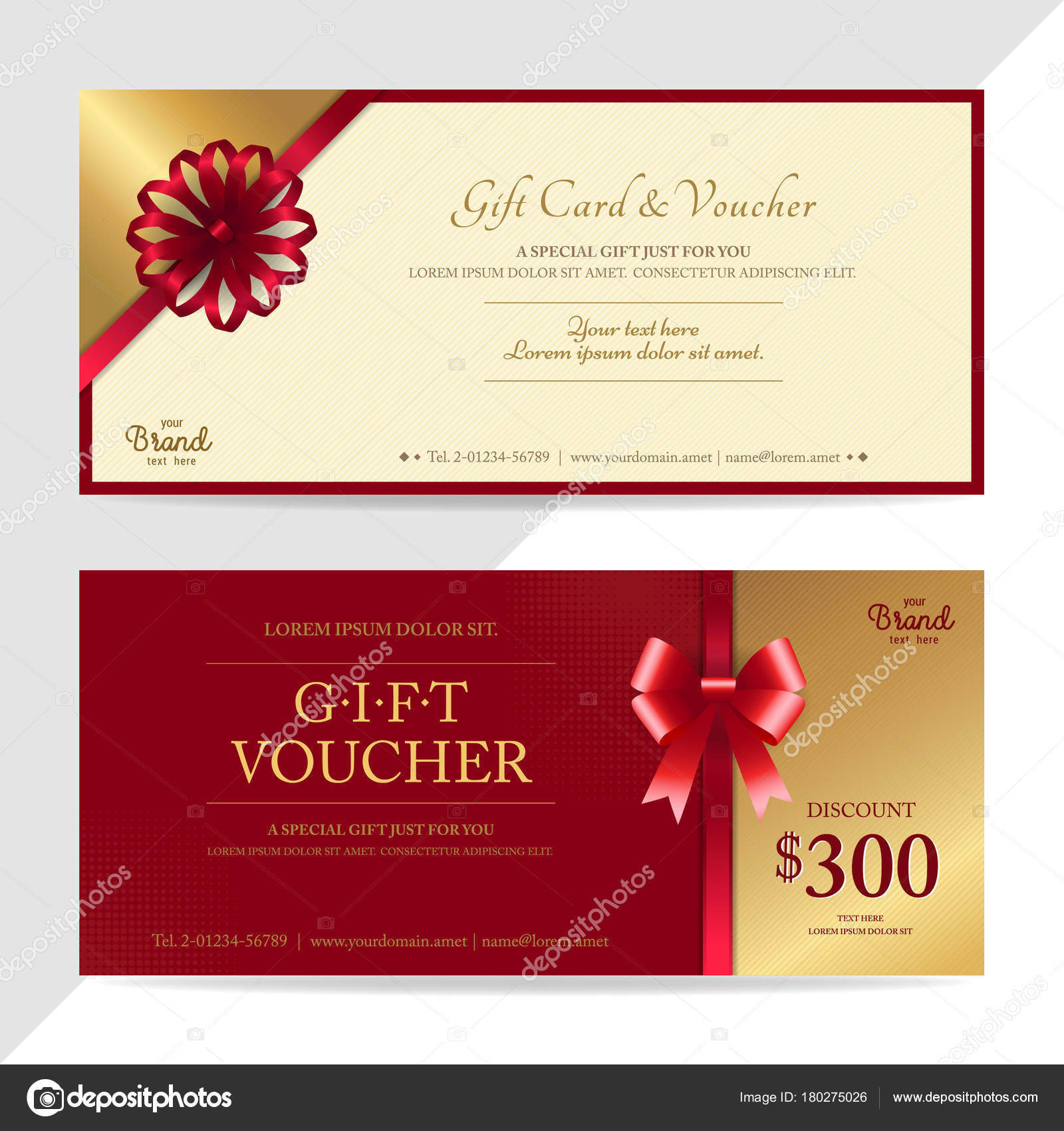 Gift certificate, voucher, gift card or cash coupon template in ...