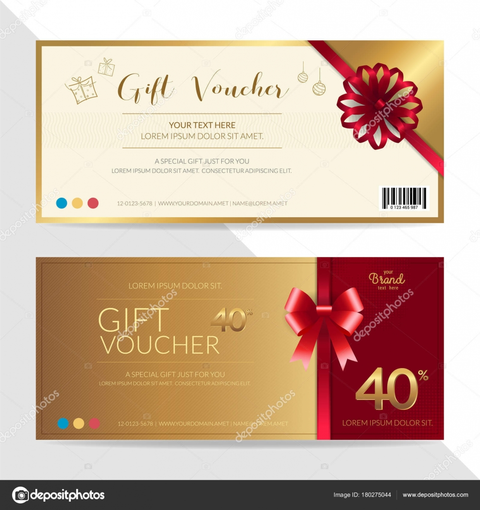 Gift Certificate, Voucher, Gift Card Or Cash Coupon Template In Vector  Format U2014 Stock  Coupon Format