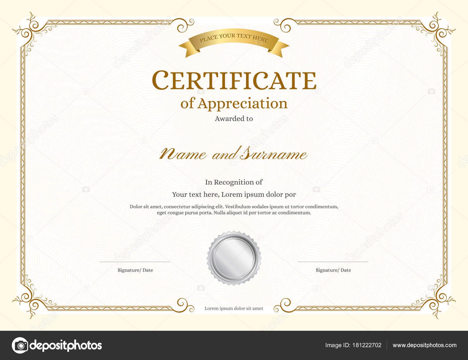 Certificate_003-gold — Stockvektor © beinluck #181222702