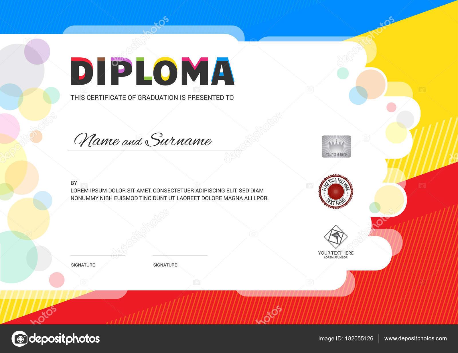 Kinder Sommer Camp Diplom oder Zertifikat Vorlage mit Dichtung ...