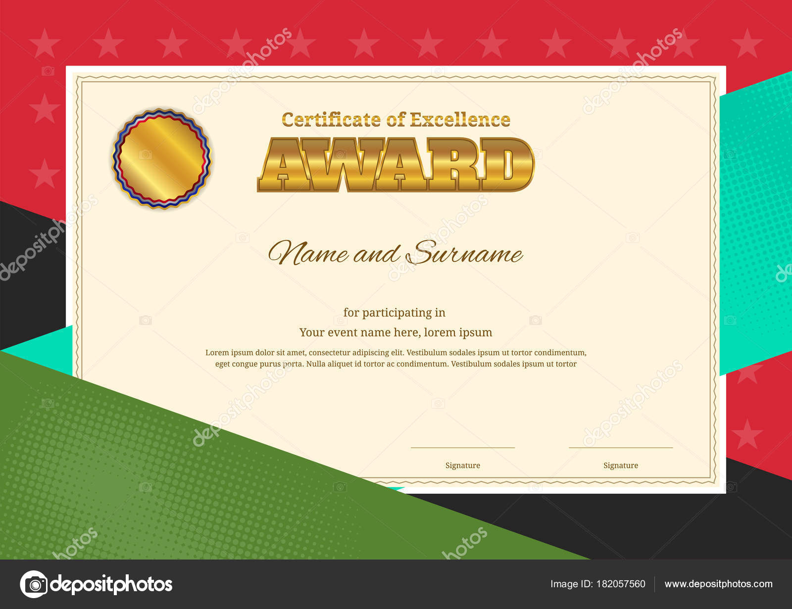 certificate of recognition border