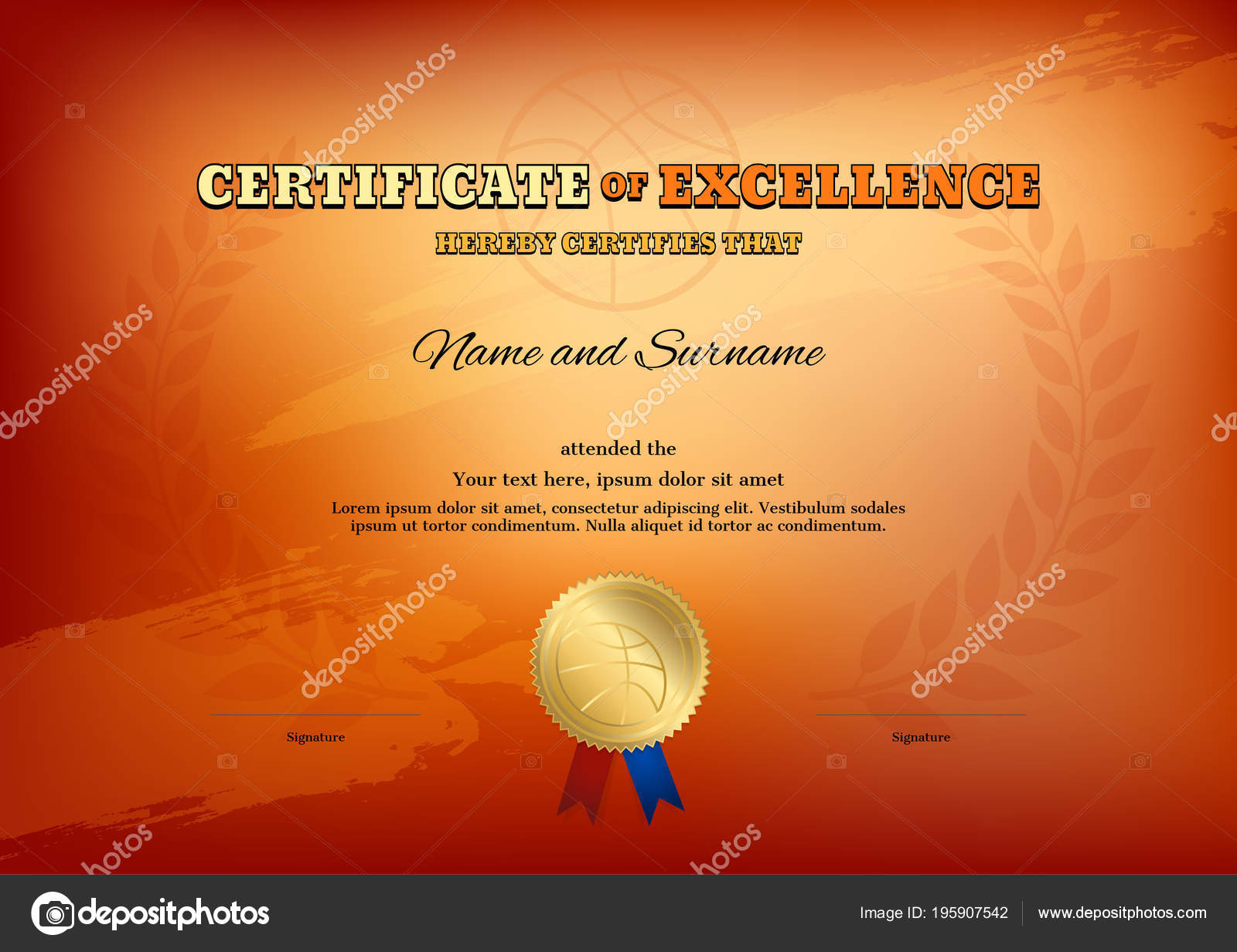 Certificate template basketball sport theme basketball theme color certificate template basketball sport theme basketball theme color background diploma yelopaper Gallery