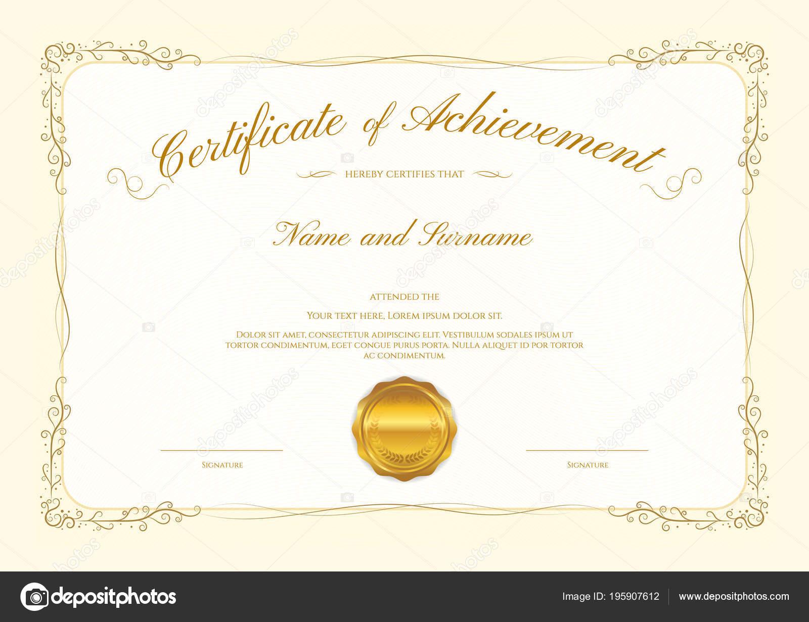 Luxus Zertifikat Vorlage Mit Eleganten Rahmen Diplom Design ...