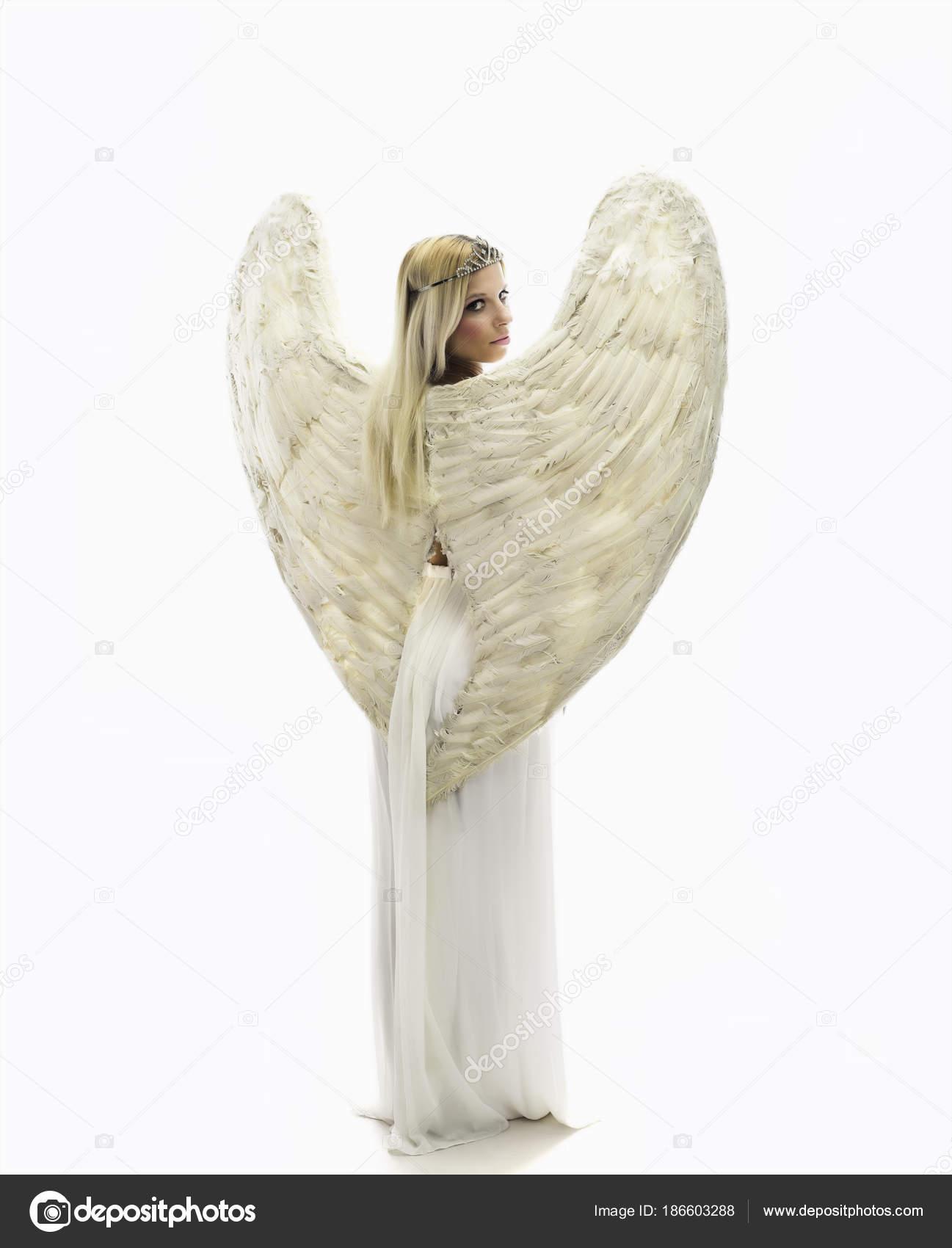 Imágenes Alas De Angel Para Fotomontaje Hermosa Joven Modelo Con