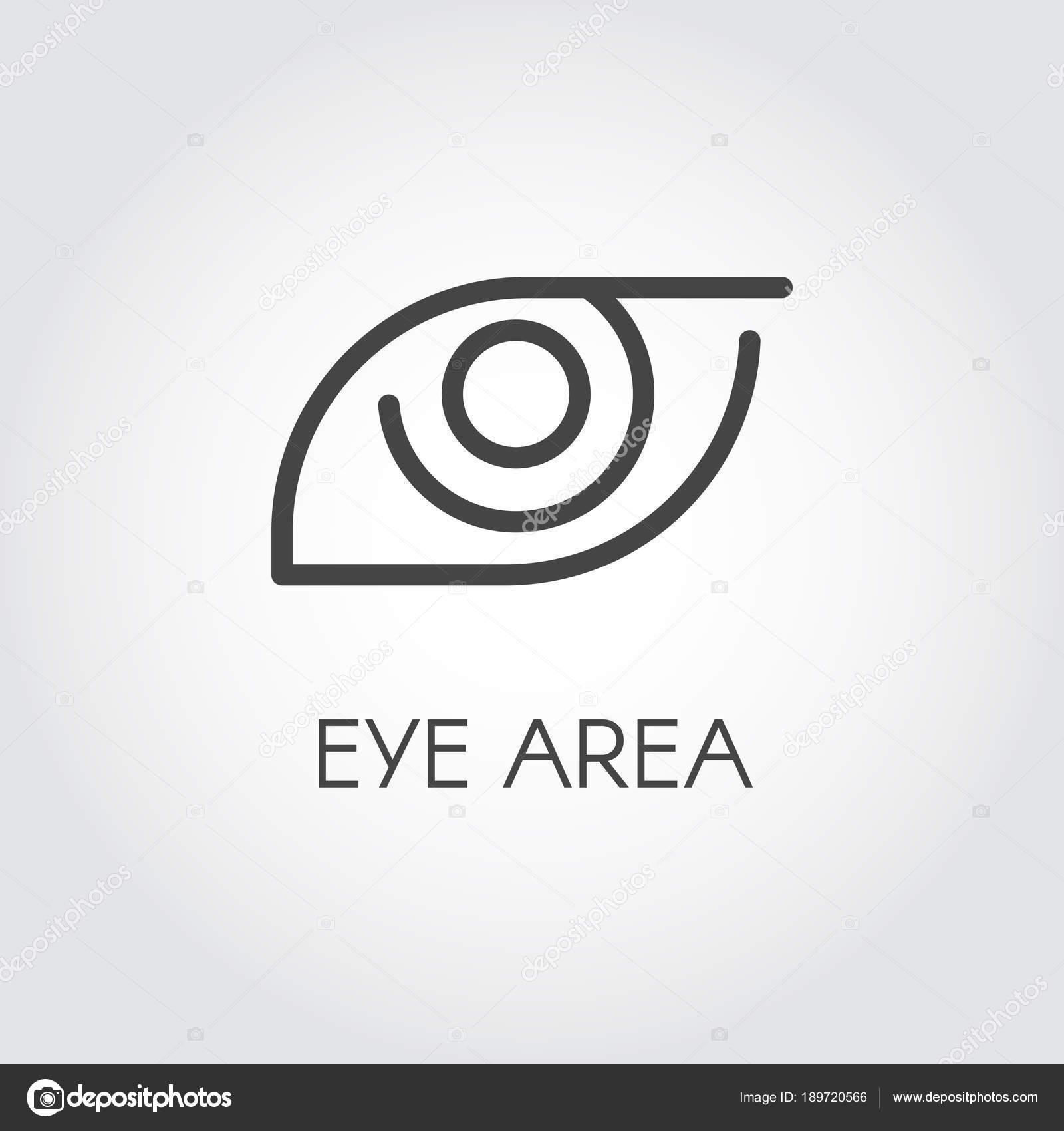 Symbol der menschlichen Augenpartie Zeichnung in dünnen Umriss-Stil ...