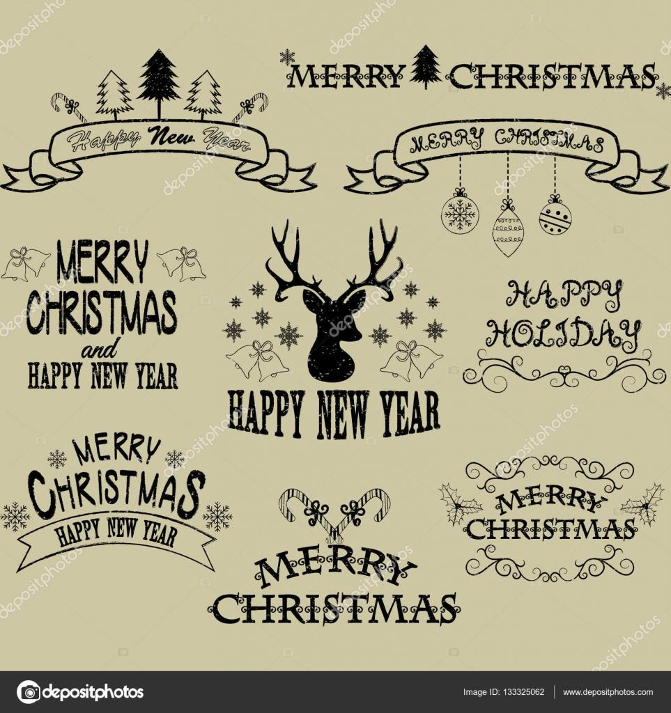 Feliz Navidad la frontera Marcos, Banner, ciervos de la Navidad ...
