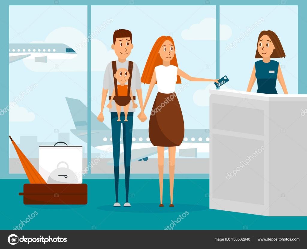 Imágenes Personas Viajando En Avion: Personas En El Aeropuerto Dibujo