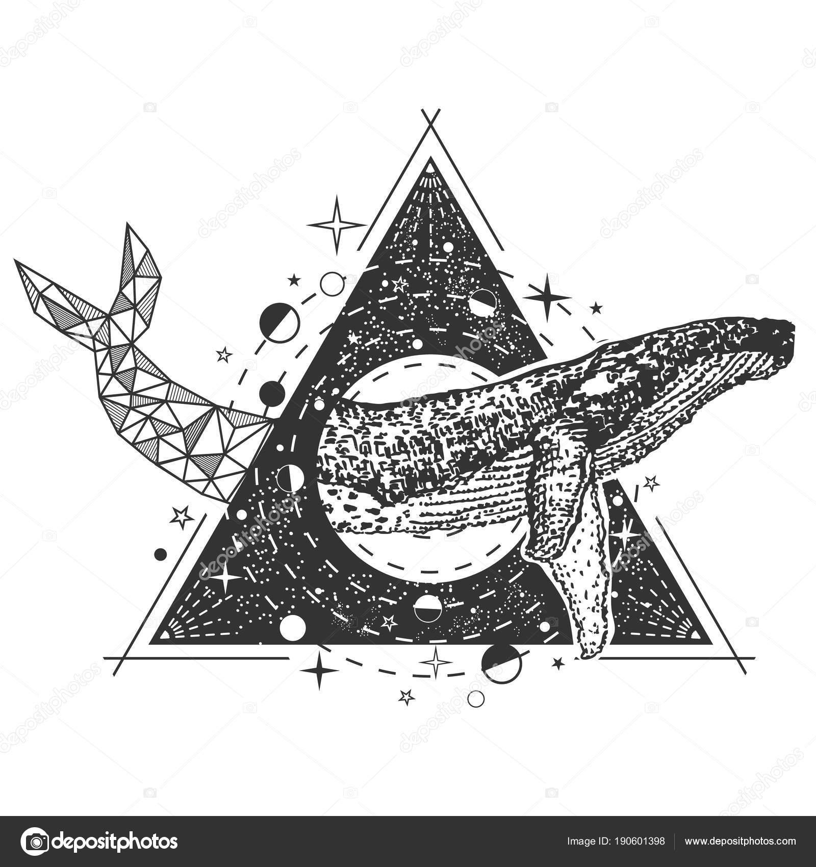 Tatuajes De Colas De Ballenas Vector Creativo Ballena Geométrica