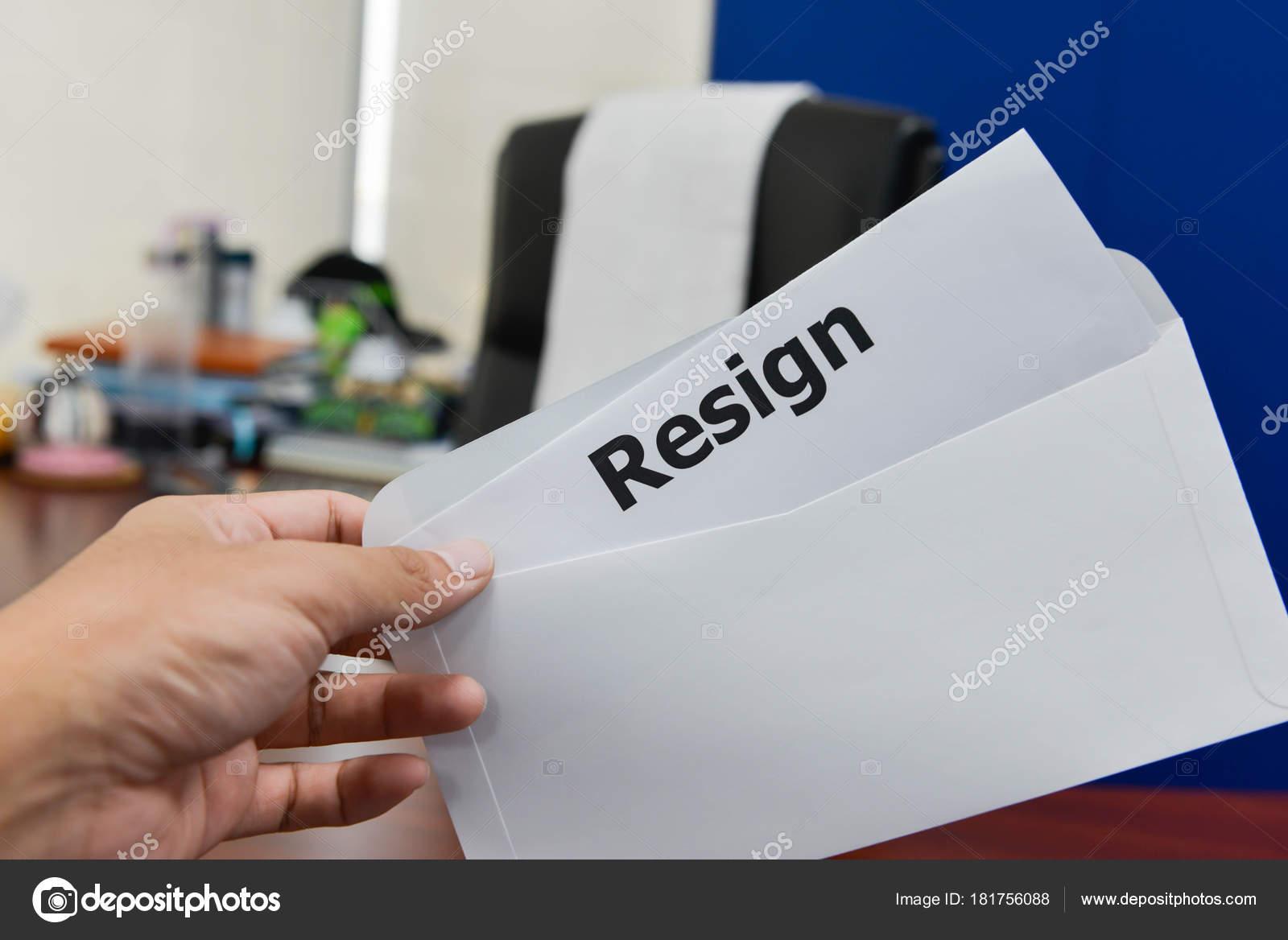 submit resignation