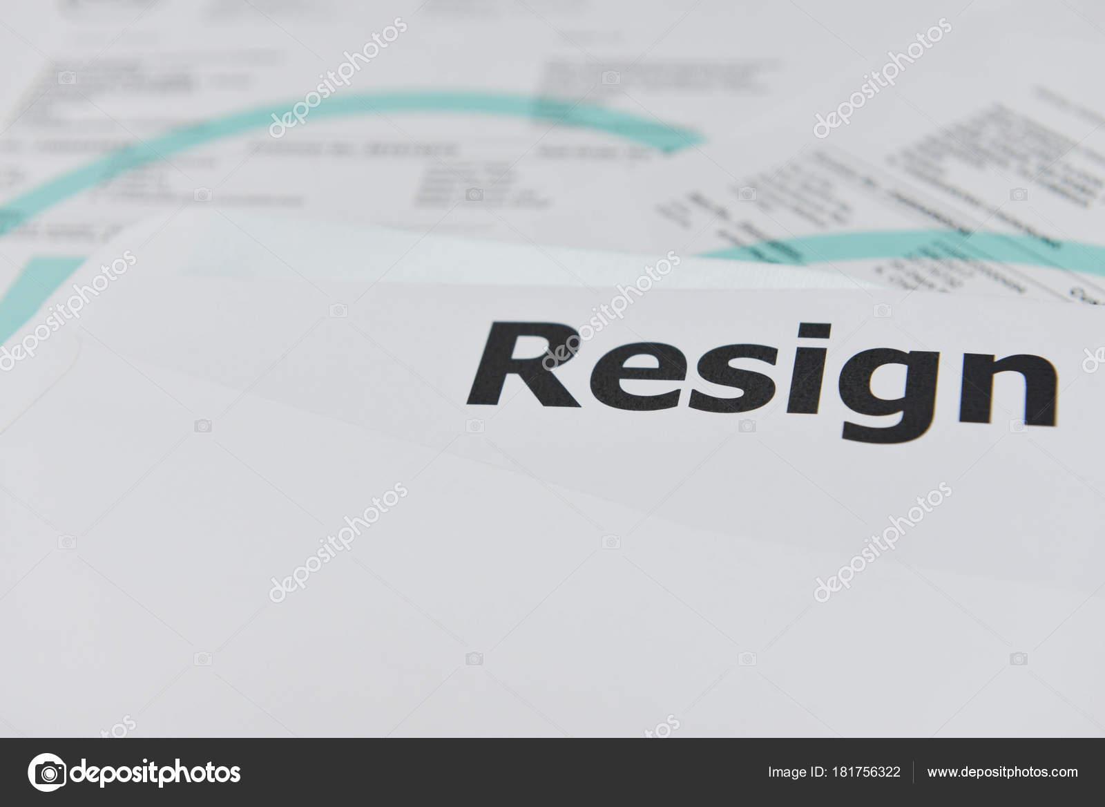 Resignation Letter Envelope — Stock Photo © magneticmcc #181756322