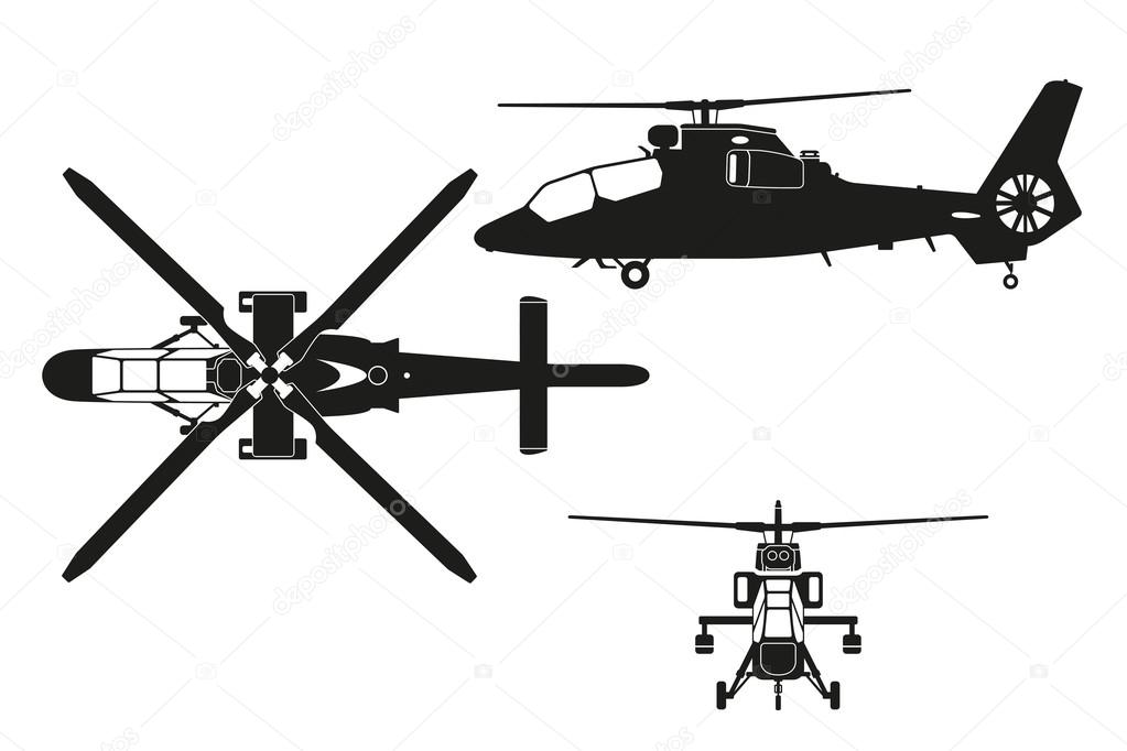 blackhawk helicopter top view