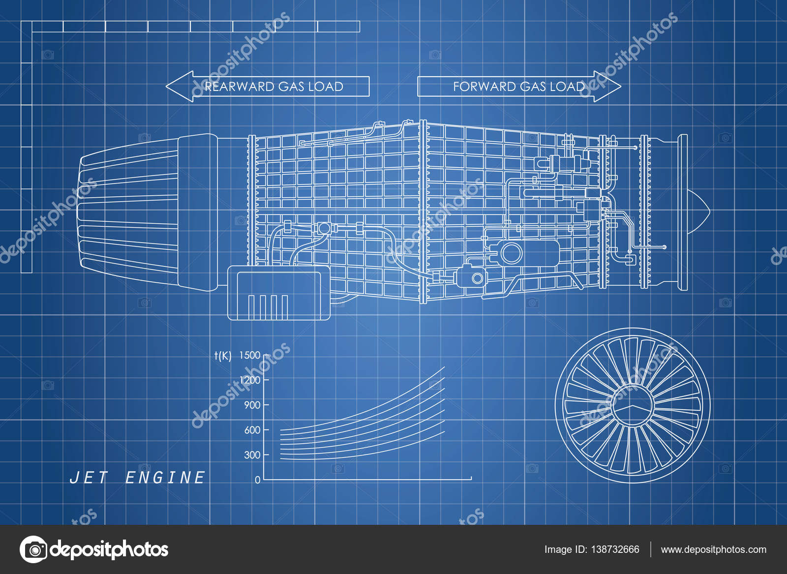 Engine Aircraft Repair Stock Vectors Royalty Free Jet Schematic In A Outline Style Industrial Vector Blueprint Part