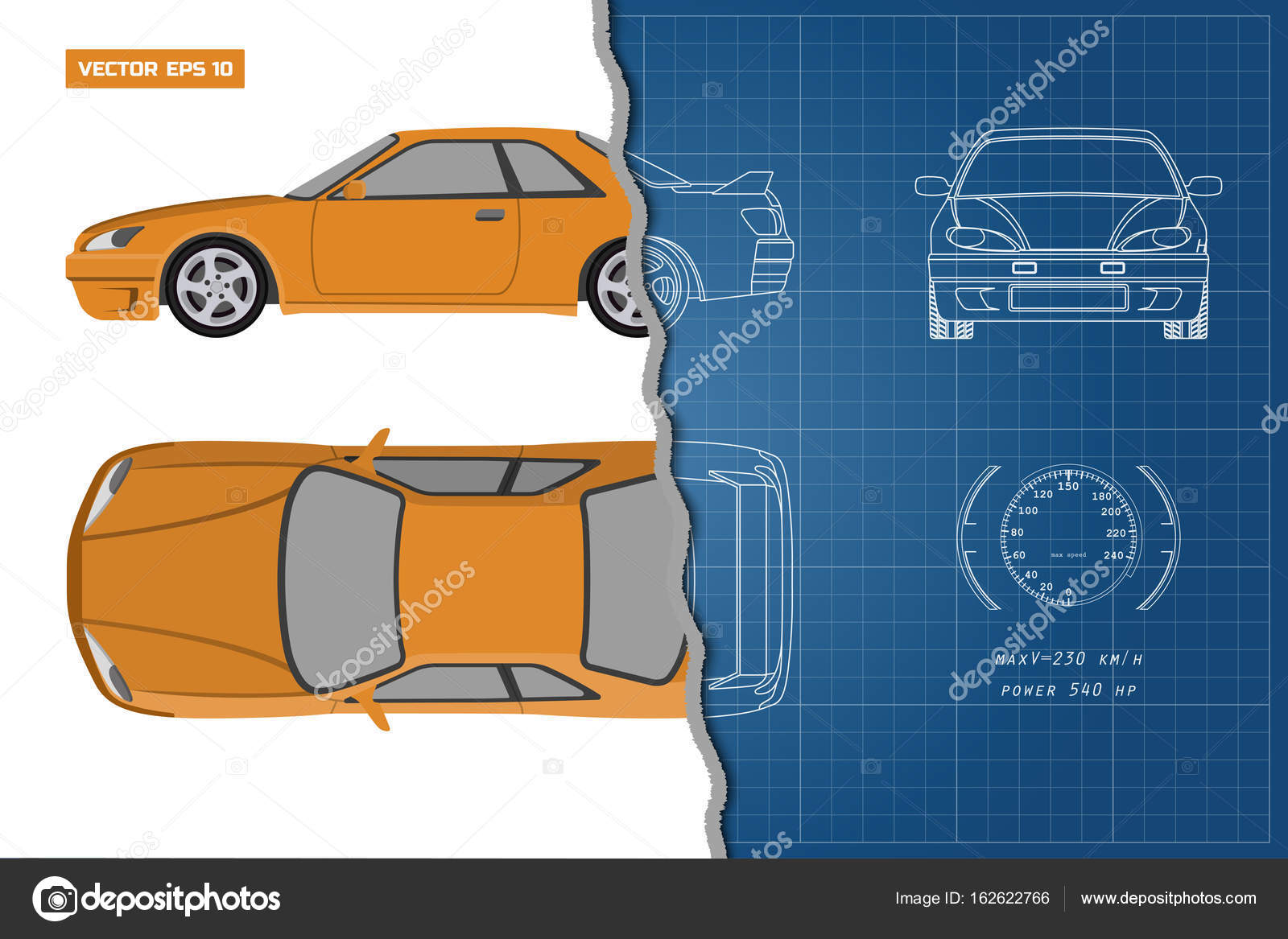 Drawing of the car on a blue background top front and side view drawing of the car on a blue background top front and side view industrial blueprint of vehicle vector illustration vector by shain malvernweather Gallery