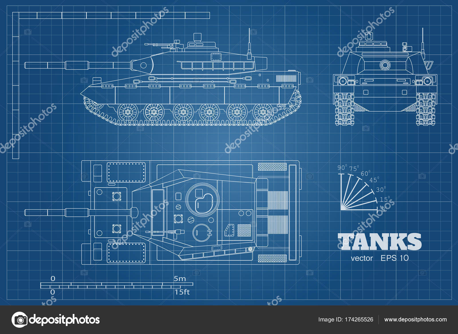 Blueprint of realistic tank top front and side view detailed blueprint of realistic tank top front and side view detailed armored car malvernweather Image collections