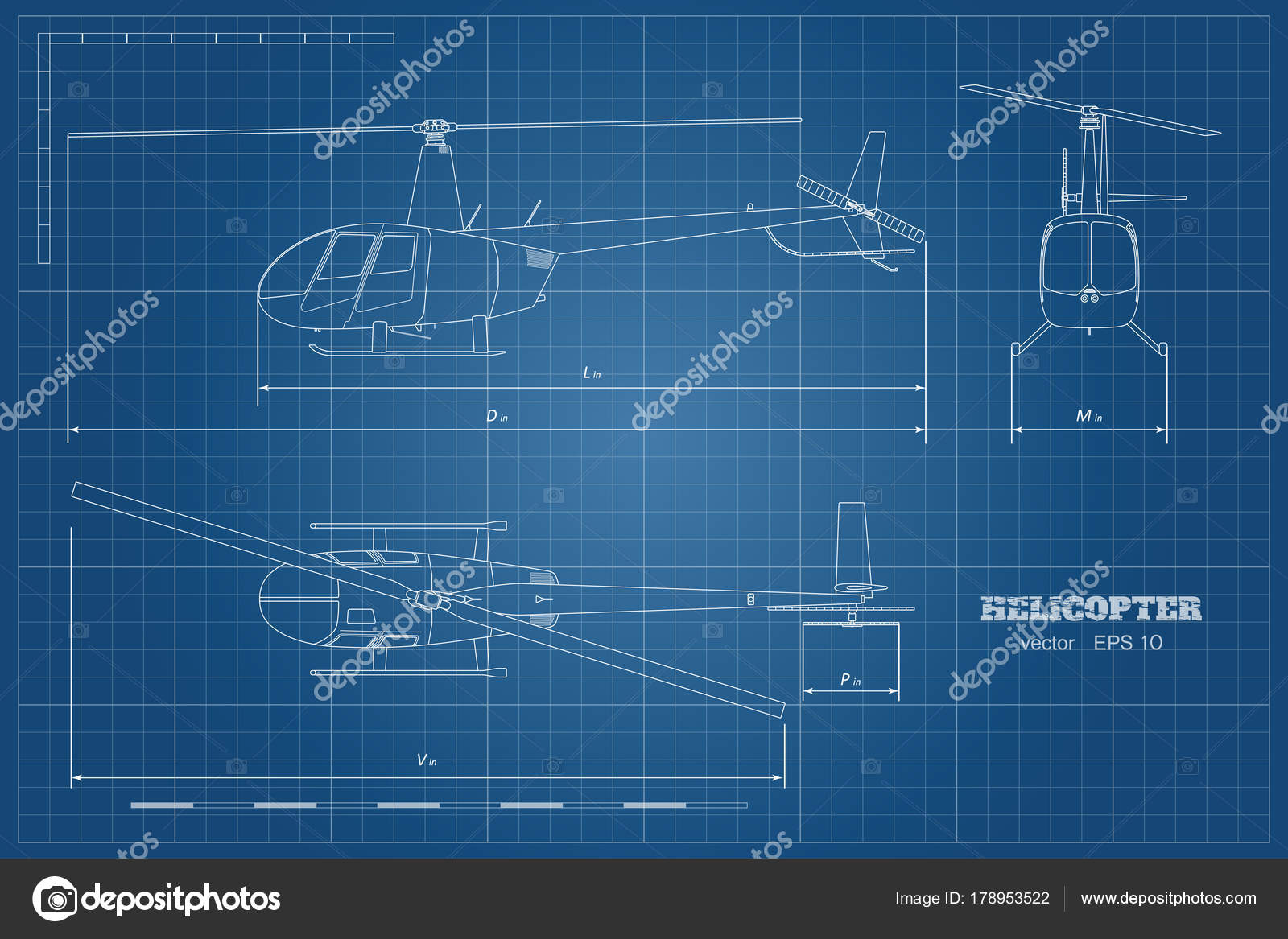 Blueprint of helicopter top front and side view detailed image of blueprint of helicopter top front and side view detailed image of business vehicle malvernweather Image collections