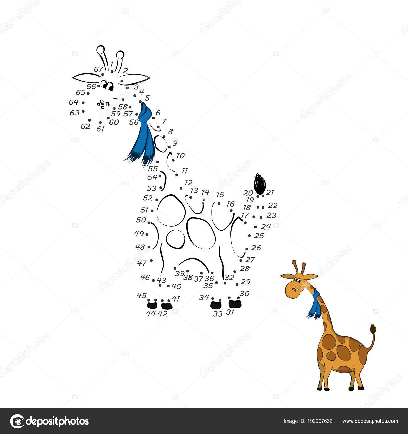 Von Punkt zu Punkt-Spiel. Pädagogische Zahlenrätsel für Kinder ...