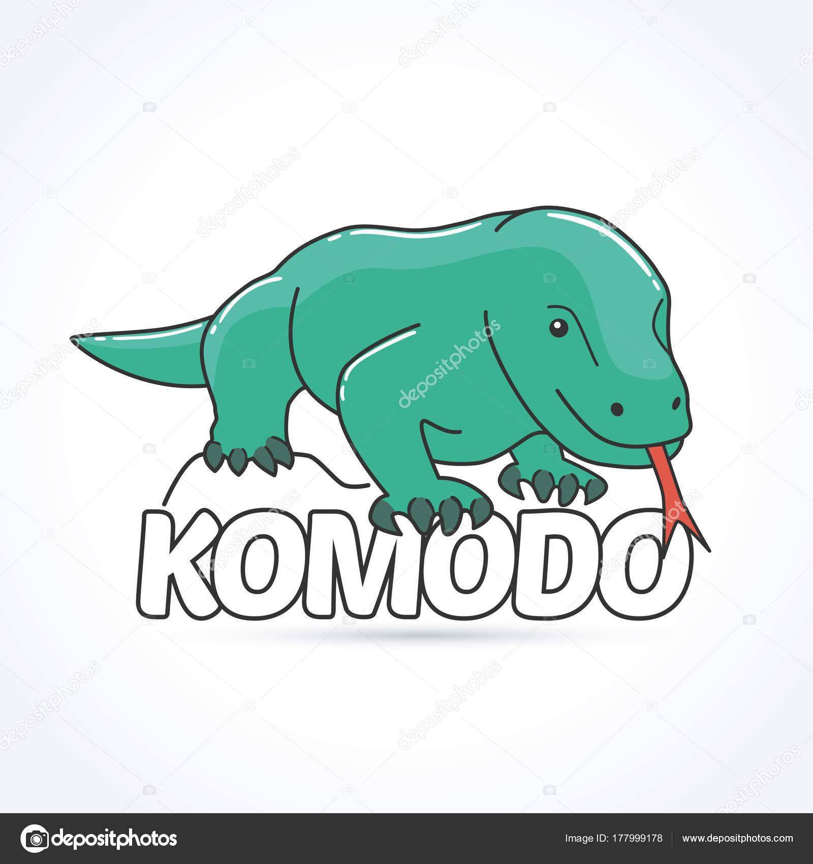 Dragón Komodo Grandes Especies Lagartos Las Islas Indonesias Komodo ...