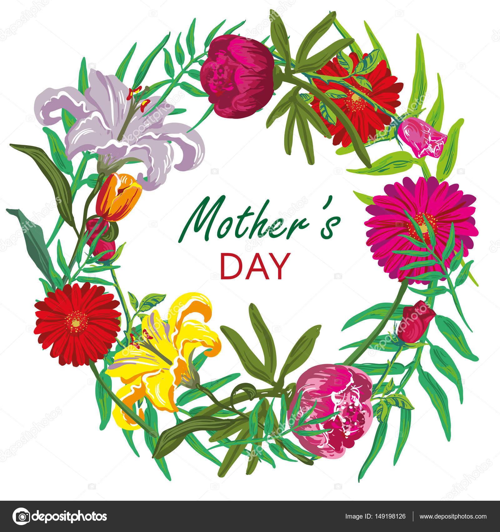 Tarjetas Por El Dia De La Madre Vector De Diseño De