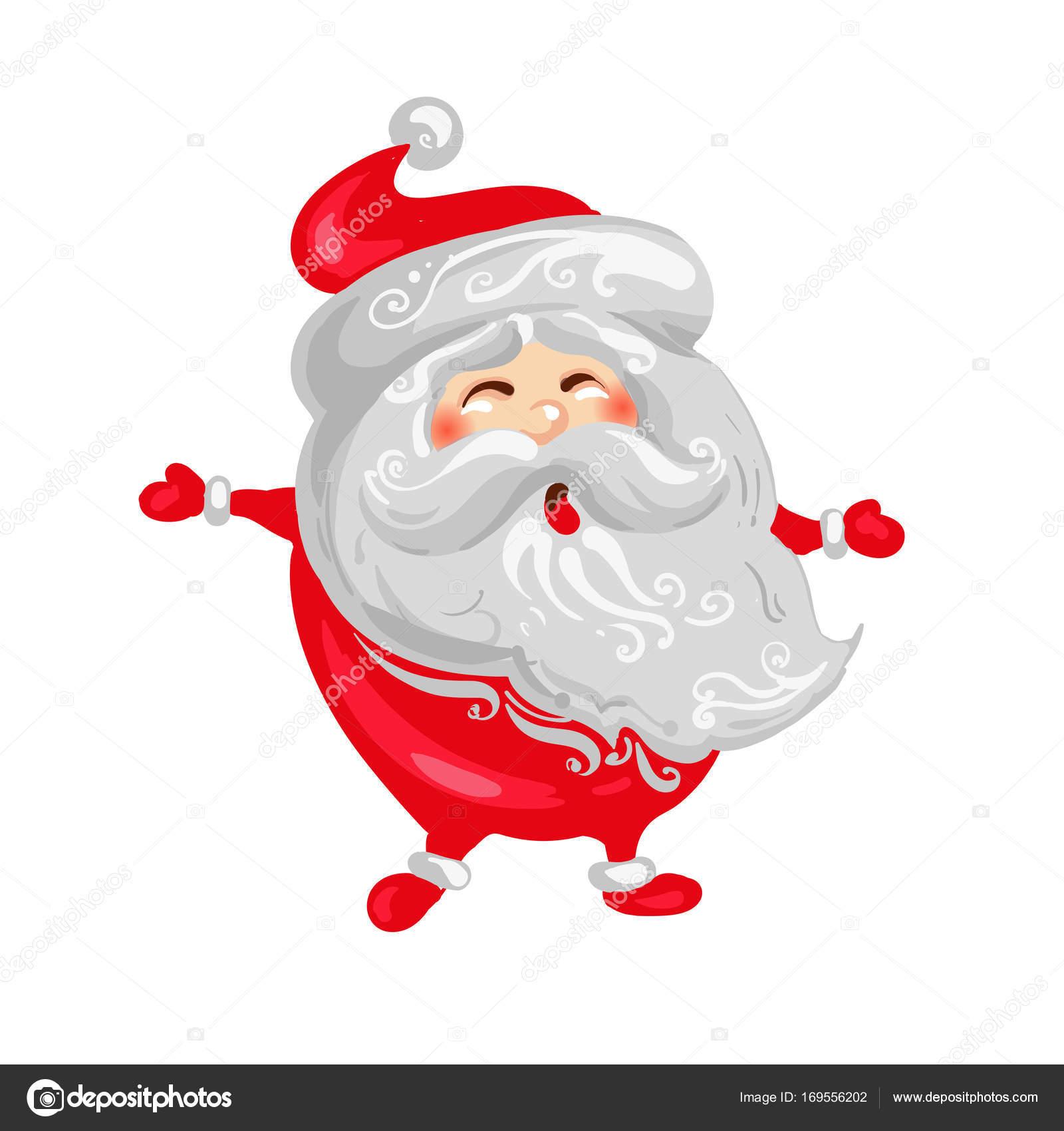 Posizione Babbo Natale.Felice Babbo Natale E Capodanno Divertente Simpatico Personaggio In