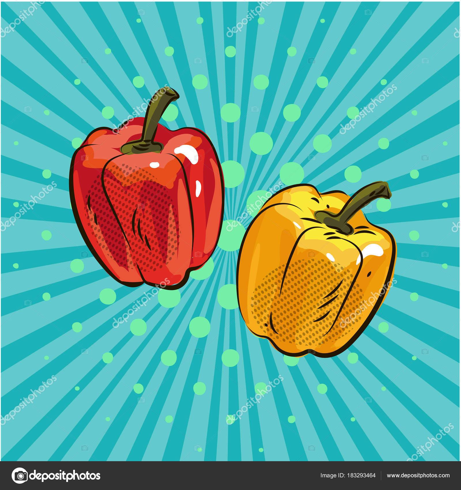 Coloriage Paprika Dessin Anime.Poivre Paprika Pop Art Style Comique Main Cartoon Dessine Eco Dot