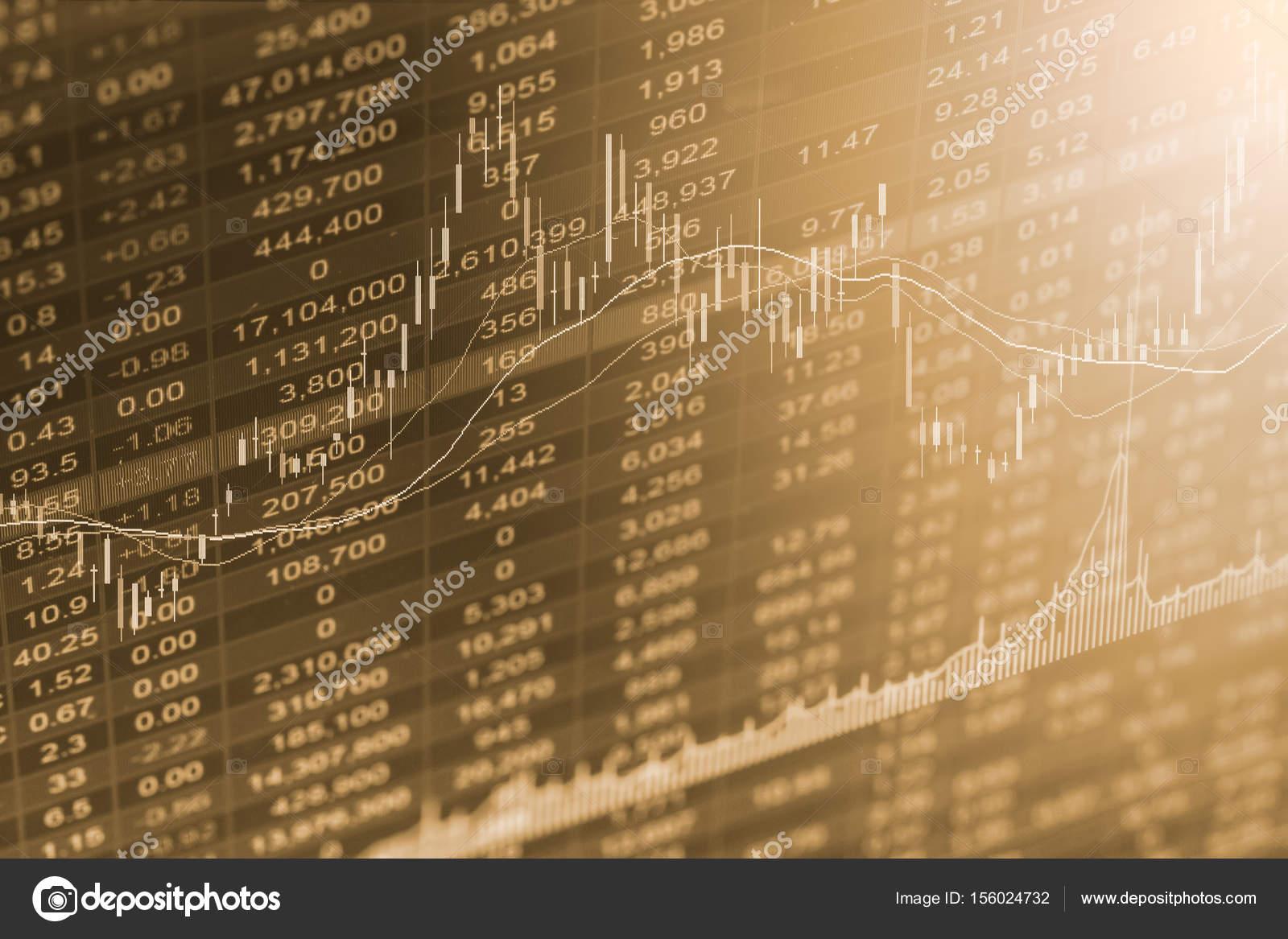 Gráfico del índice de bolsa análisis financiero indicador Led ...