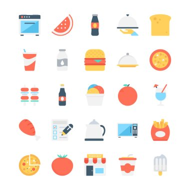 Food Colored Vector Icons 7