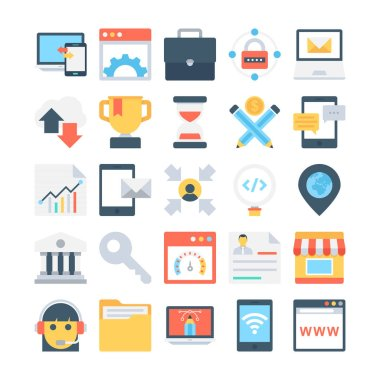Digital Marketing Colored Vector Icons 4
