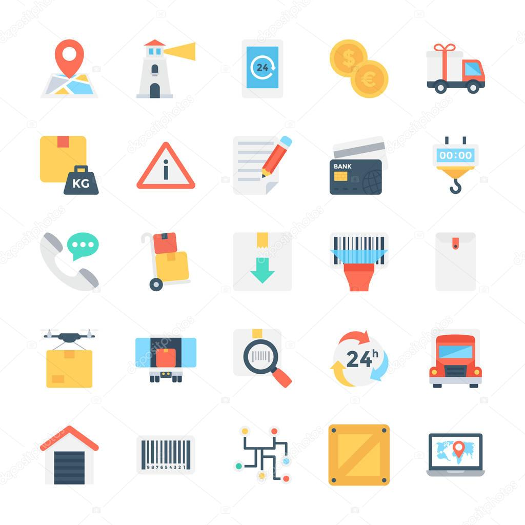 Global Logistics Colored Vector Icon 3