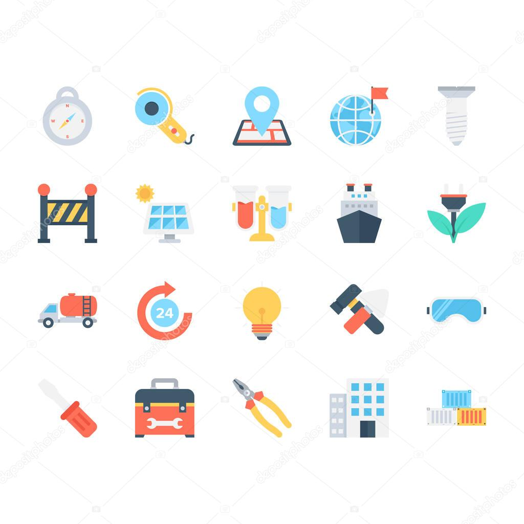 Industrial Colored Vector Icons 5