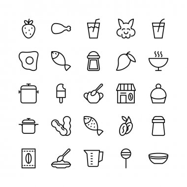 Food Line Vector Icons 17