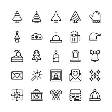 Let  celebrate this holiday season with true spirit. You'll love using these Christmas, Halloween, Party and Celebrations Vector Icons Pack for designing greeting cards and website banners icon